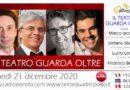 Lunedì 21 dicembre 2020 alle 19.00 ospiti a Poltronissima in diretta radio Marco Iacomelli, Stefano Mainetti, Lucio Leone e Federico Bellone