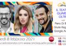 Lunedì 8 febbraio 2021 alle ore 19.00 ospiti in diretta a Poltronissima in radiovisione: Piero Di Blasio, Giulia Ragazzini e Giorgio Adamo