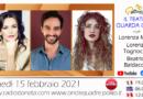 Lunedì 15 febbraio 2021 alle ore 19.00 ospiti in diretta a Poltronissima in radiovisione: Lorenza Mario, Beatrice Baldaccini e Lorenzo Tognocchi